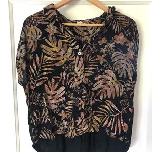 A New Day Tropical Shirt Size XL